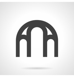Window arch glyph style icon vector image