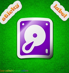 Hard disk and database icon sign Symbol chic vector image