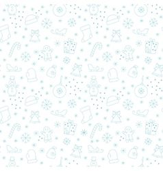 Seamless pattern new year vector