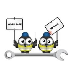 Construction work safe be safe message vector