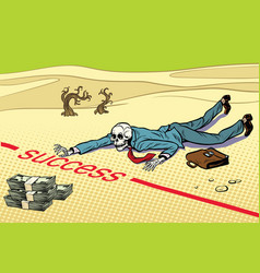 dead near wealth success is impossible vector image vector image
