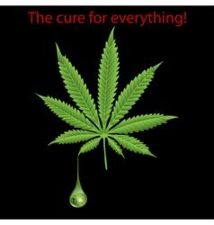 Marijuana leaf - THC vector image