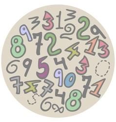 numbers art vector image vector image