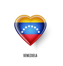 patriotic heart symbol with venezuela flag vector image