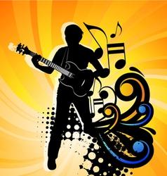 rock group guitarist vector image vector image