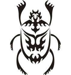 sacred scarab tribal tattoo vector image