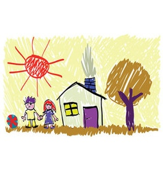 Children picture vector image vector image