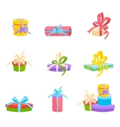 Christmas and birthday gift box Flat design vector image vector image