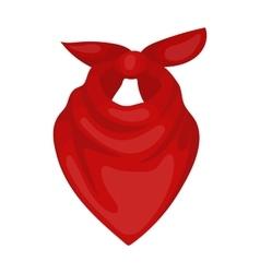 Cowboy bandana icon in cartoon style isolated on vector image