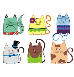 Cute cat series vector image
