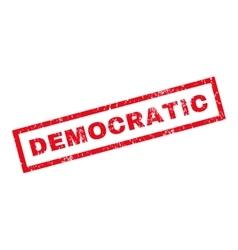 Democratic Rubber Stamp vector image
