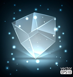 Glowing transparent box vector image