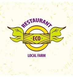 logo eco restaurant cafe Local farm vector image vector image