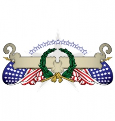 united states banner vector image vector image