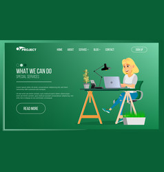 website page business agency network vector image vector image
