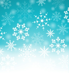 Xmas blue background with snowflakes and copy vector image vector image