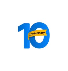 10 years anniversary celebration template design vector