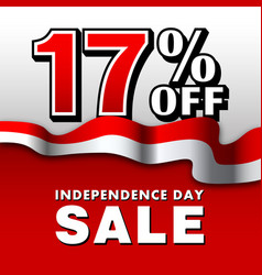 17 indonesia independence day sale poster vector
