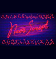 80 s blue purple retro font futuristic script vector image
