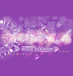 abstract musical futuristic background with arrows vector image