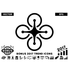 Airdrone Flat Icon With 2017 Bonus Trend vector image