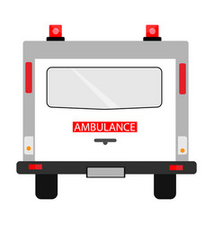 ambulance car back view vector image