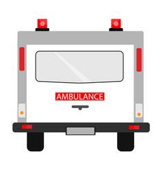 ambulance car back view vector image