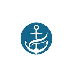anchor icon logo template vector image