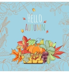 Autumn invitation card vector