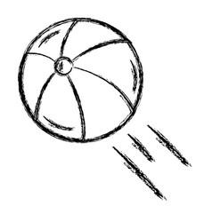 Balloon beach isolated icon vector
