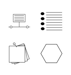 basic content linear outline icon set vector image