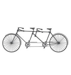 Bicycle silhouette isolated on white background vector