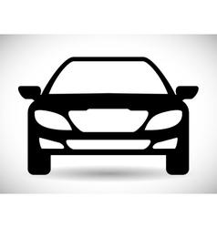 Black car icon Transportation design vector