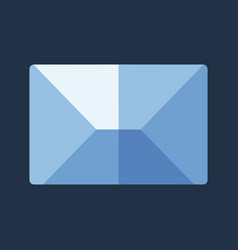 blue flat icon message envelope object vector image