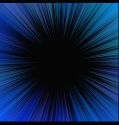Blue hypnotic abstract starburst background with vector
