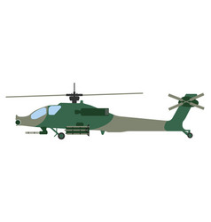 cartoon helicopter military equipment icon vector image