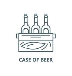 Case beer line icon linear concept vector
