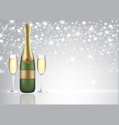 champagne glasses on blurred background vector image