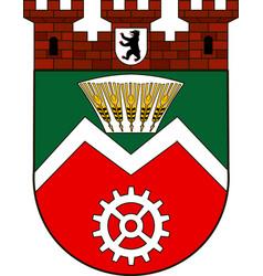 Coat arms marzahn in marzahn-hellersdorf of vector