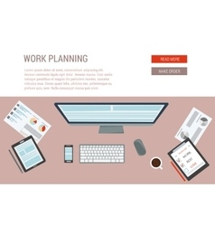 concept of working process vector image