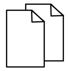 copy cut documents files sheet icon vector image