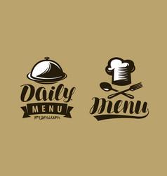 daily menu logo or label symbol restaurant or vector image