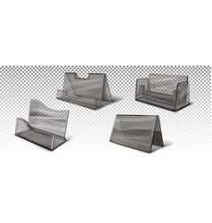 Dark transparent business card holders vector