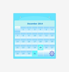 Design schedule monthly december 2014 calendar vector