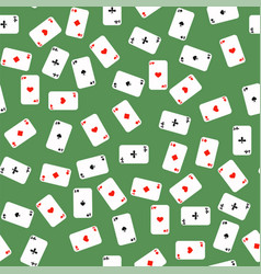 different playing cards pattern vector image