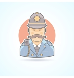 English policeman british bobby icon vector