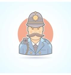 english policeman british bobicon vector image