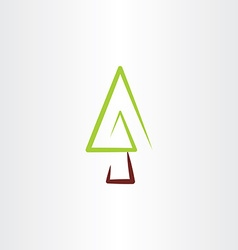 fir tree christmas icon design vector image