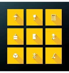 flat packaging icon set vector image