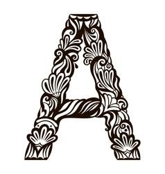 Floral font vector